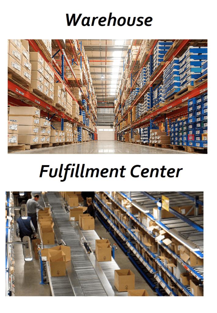 Warehouse vs Fulfillment Center Image